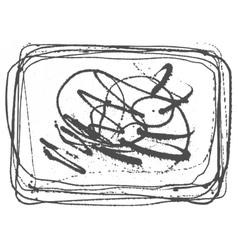 Splatter Black Ink Background in frame vector image