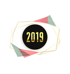 stylish 2019 minimal happy new year background vector image