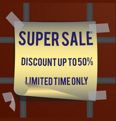 super sale inscription design template super vector image