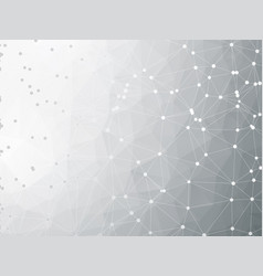 technical gray geometric background connection vector image