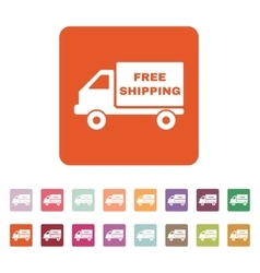 The free shipping icon Delivery and vector image