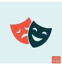 Theater mask icon vector image