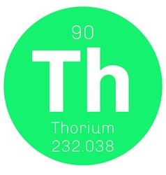 Thorium chemical element vector image