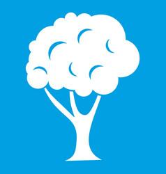 Tree icon white vector