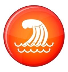Tsunami wave icon flat style vector
