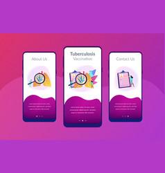 Tuberculosis app interface template vector