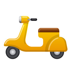vintage retro scooter icon vector image