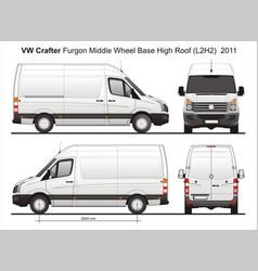 Volkswagen crafter delivery van l2h2 2011 vector