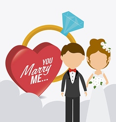 Wedding card design vector image