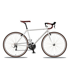 White bicyle vector