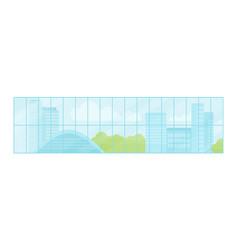 window urban landscape vector image