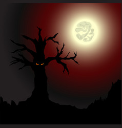 yellow-eyed tree vector image