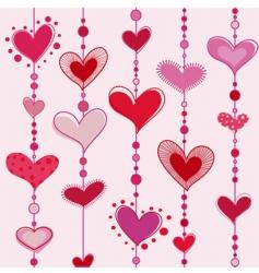 heart tiles vector image