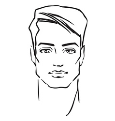 Man face fashion model vector image vector image