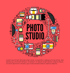 photographer or photostudio concept design vector image vector image