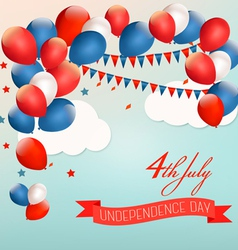 Retro american background with colorful balloons vector image