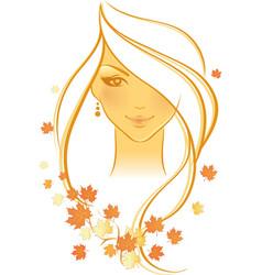 Women autumn face vector