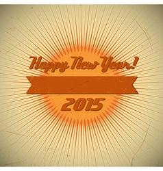 2015 retro red round vector image vector image