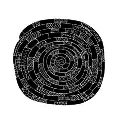 Ethnic spiral mandala sketch for your design vector image vector image