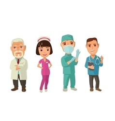 Male faemale doctor character set icon vector image vector image
