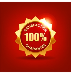 satisfaction guarantee vector image vector image