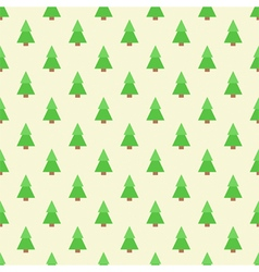 Flat design green christmas trees seamless pattern vector image vector image