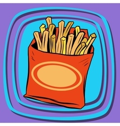 Fries fast food vector image