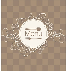 menu with a flourish vector image vector image