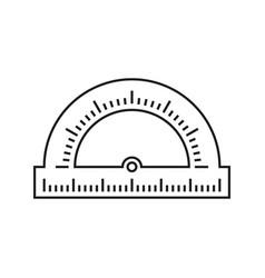 protractor school icon vector image vector image