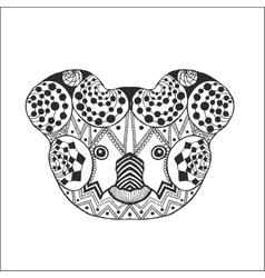 Zentangle stylized koala head vector image
