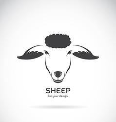 Image of a sheep head design vector image