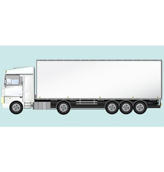 isolated modern truck vector image