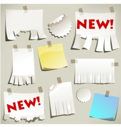 note pages vector image