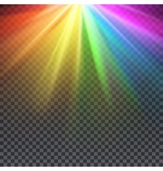 Rainbow glare spectrum with gay pride colors vector image vector image