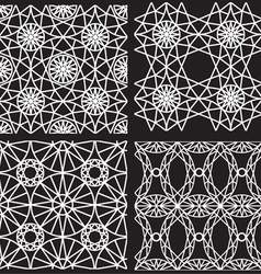 Seamless white pattern from diamond cutting vector image vector image
