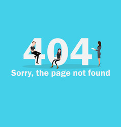 404 page not found of internet vector image