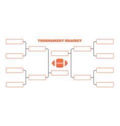 8 american football team tournament bracket vector