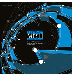 Abstract 3d mesh background abstract conceptual vector