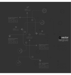 Abstract background black color schemes vector