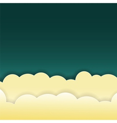 Abstract clouds on dark background vector
