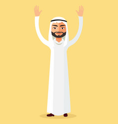 Arab man kuwait man arabic man vector