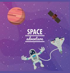 astronaut space advernture vector image