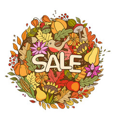 autumn seasonal sale background vector image