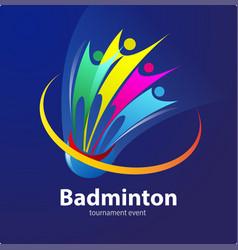 Badminton tournament symbol vector
