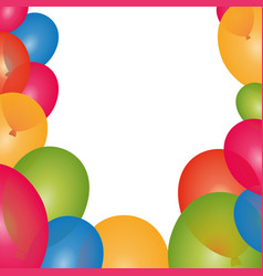 Balloons birthday decoration vector
