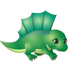 Beautiful carton dinosaur vector
