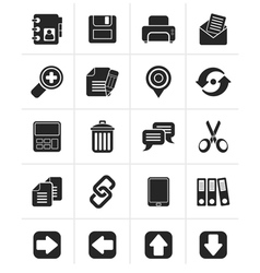 Black internet interface icons vector