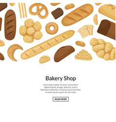cartoon bakery elements background with vector image