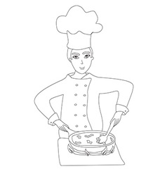 chef cooks vector image