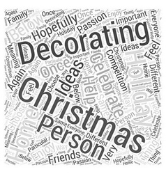 Christmas Home Decorating Word Cloud Concept vector image
